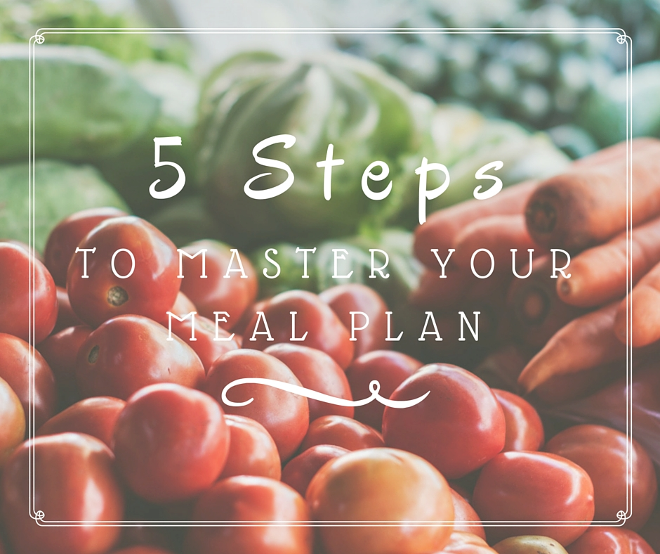 5 steps to master your meal plan