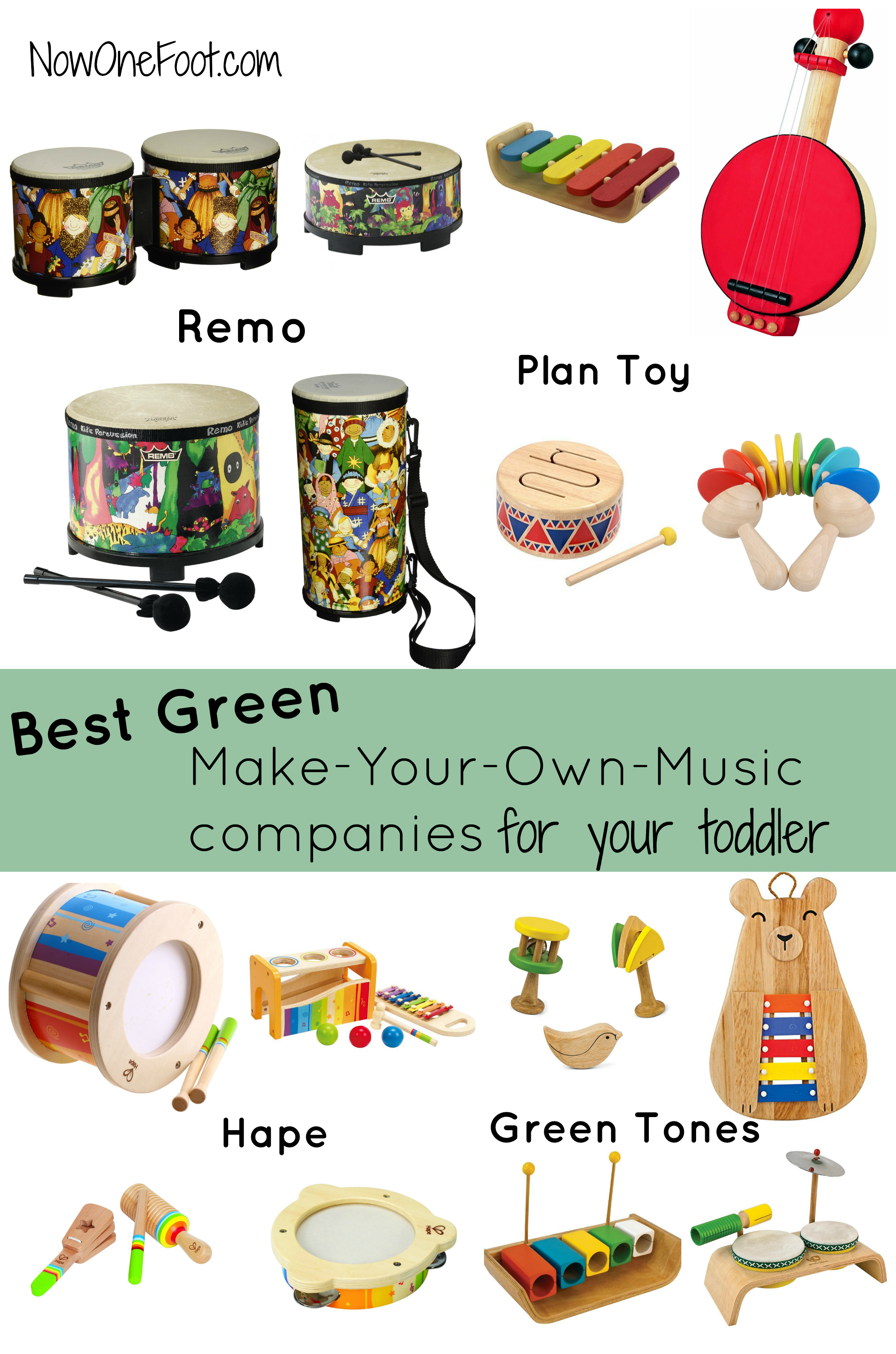 Best Green musical instrument panies for your toddler Now e